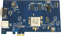 PCIe plug-in board for industrial purposes